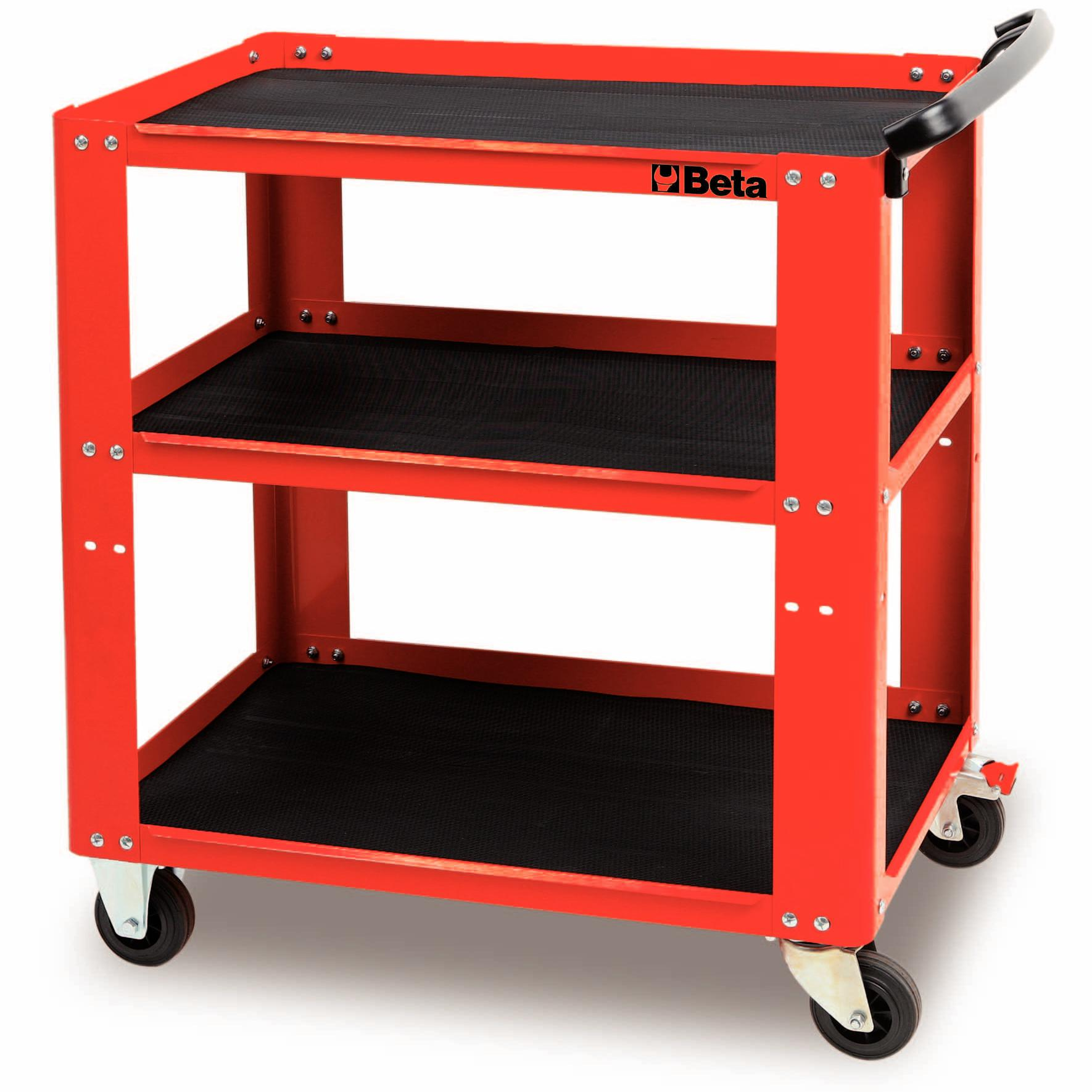 Beta Tools Workshop Tool Trolley Cart Box Rollcab Roller Cabinet Red