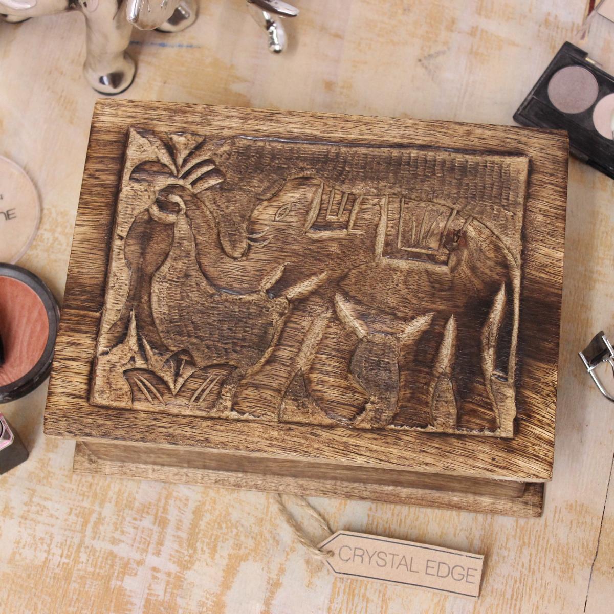 jaldhaka gro h lzerne aufbewahrungsbox elefant schnitzen. Black Bedroom Furniture Sets. Home Design Ideas