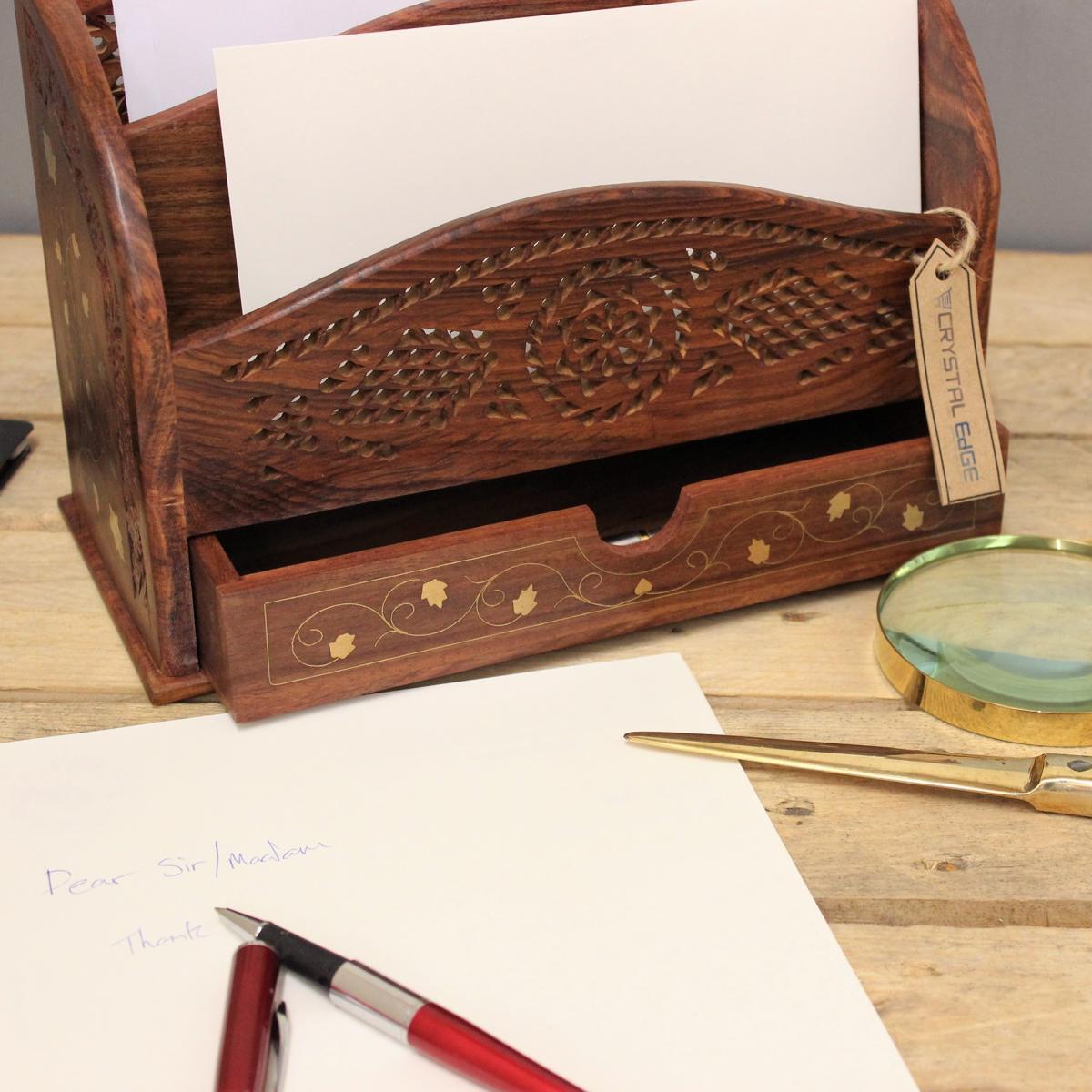Regal Für Briefe : Kaveri box für briefe regal mit messing inlay sheasham