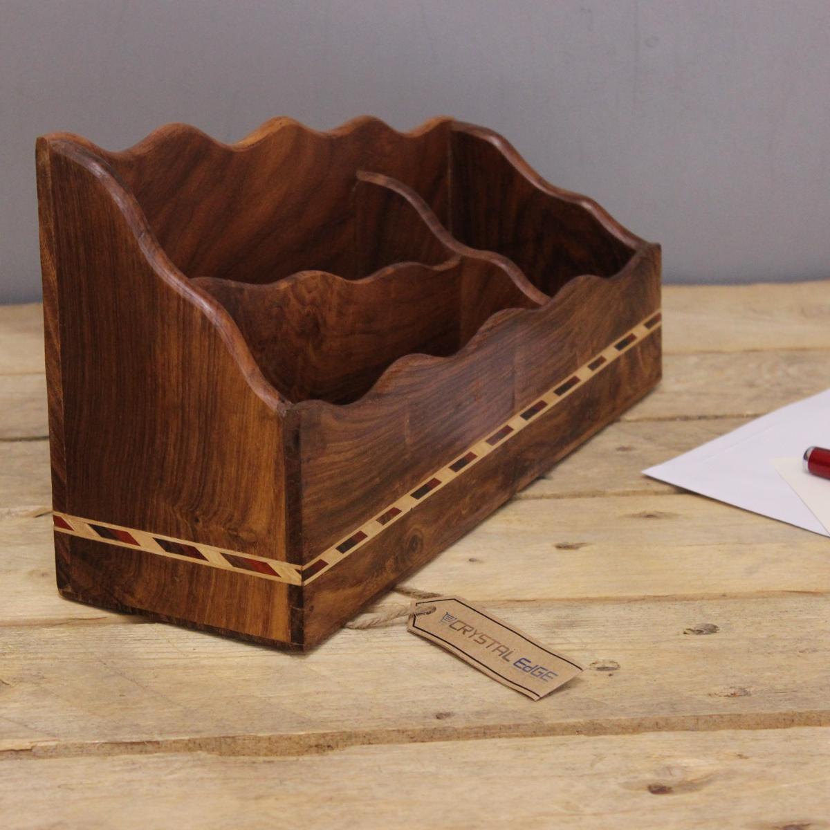 Regal Für Briefe : Lachin box für briefe regal mit holz sheesham detail