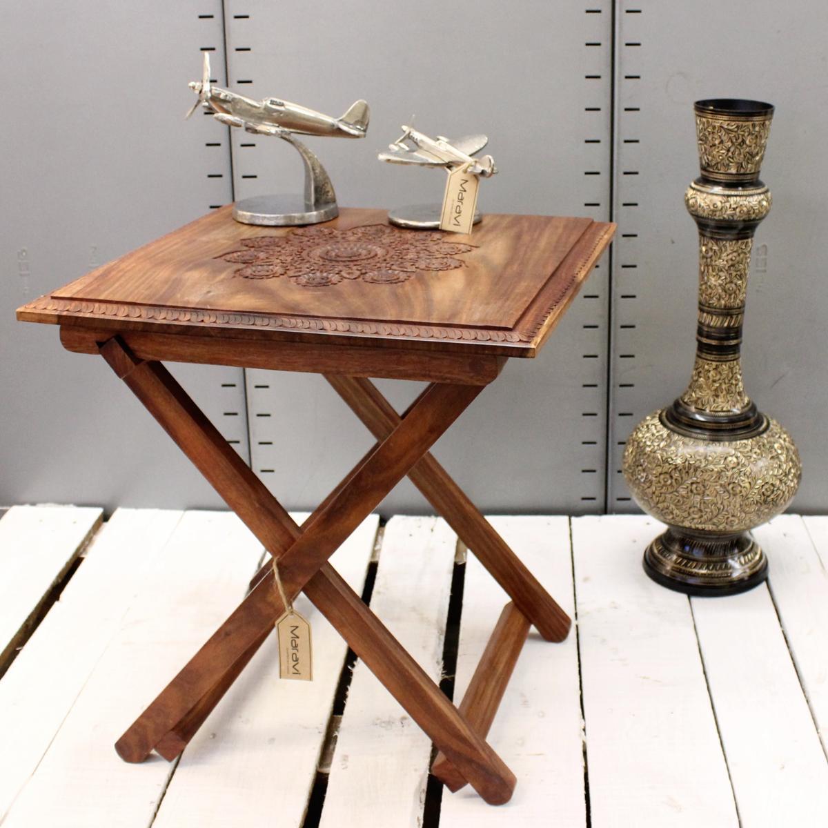 side table for hallway. Sentinel Nun Kun Square Folding Table Top Sheesham Wood Side Bedroom Hallway For