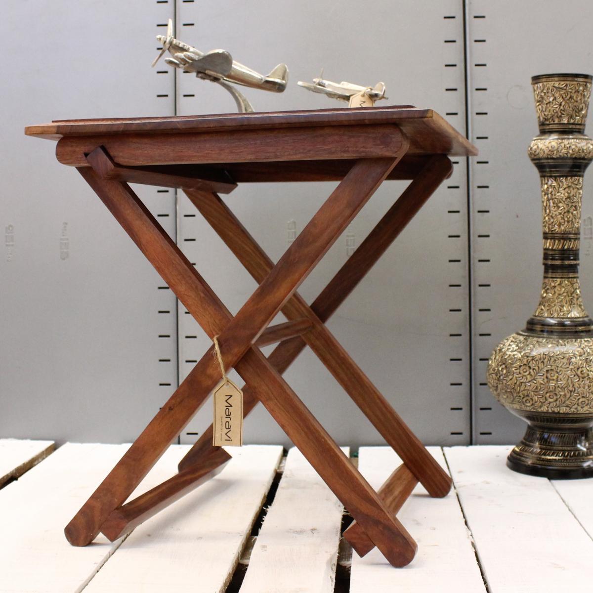 Nonne kun eckig faltbarer tisch top sheesham holz - Holz hartegrade tabelle ...