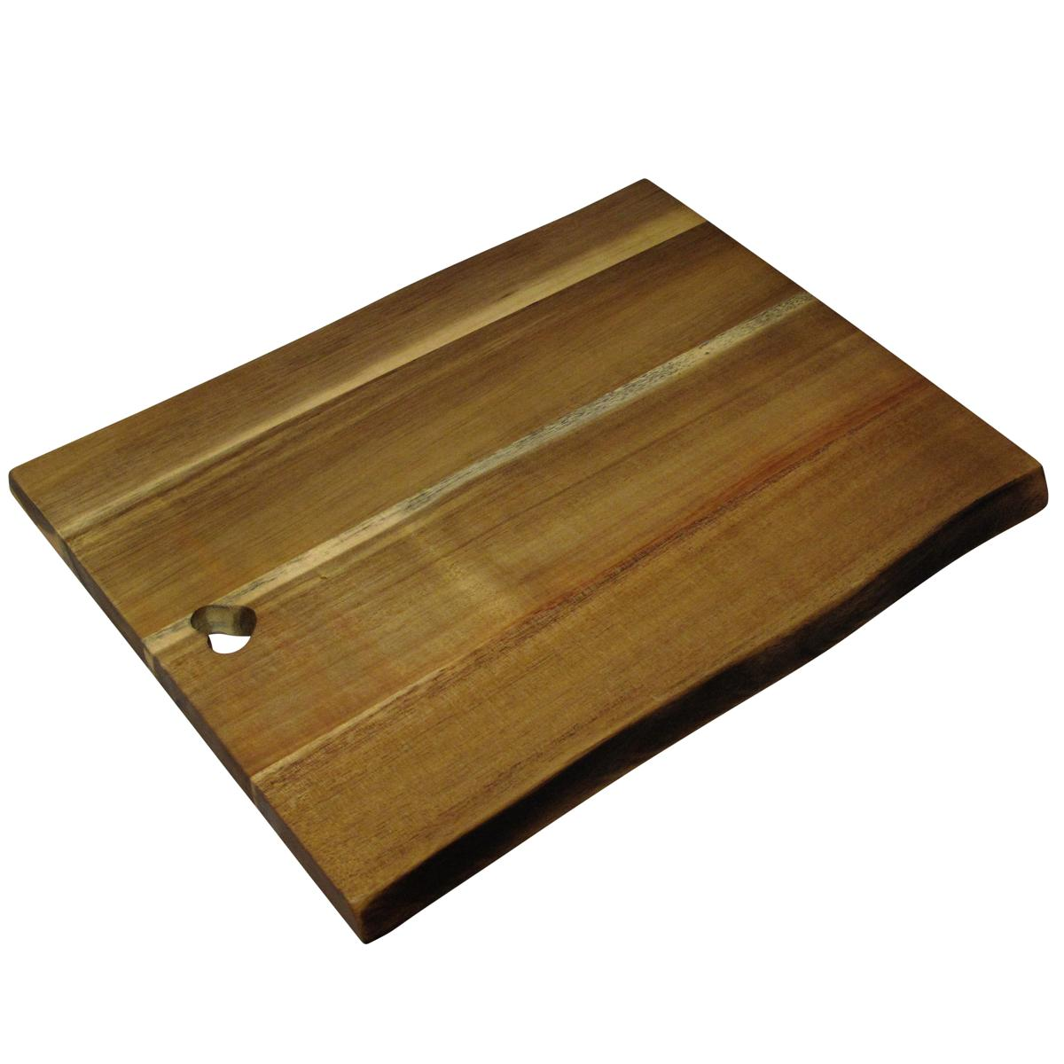 marron rectangulaire br l bois edge effet planche d couper ebay. Black Bedroom Furniture Sets. Home Design Ideas