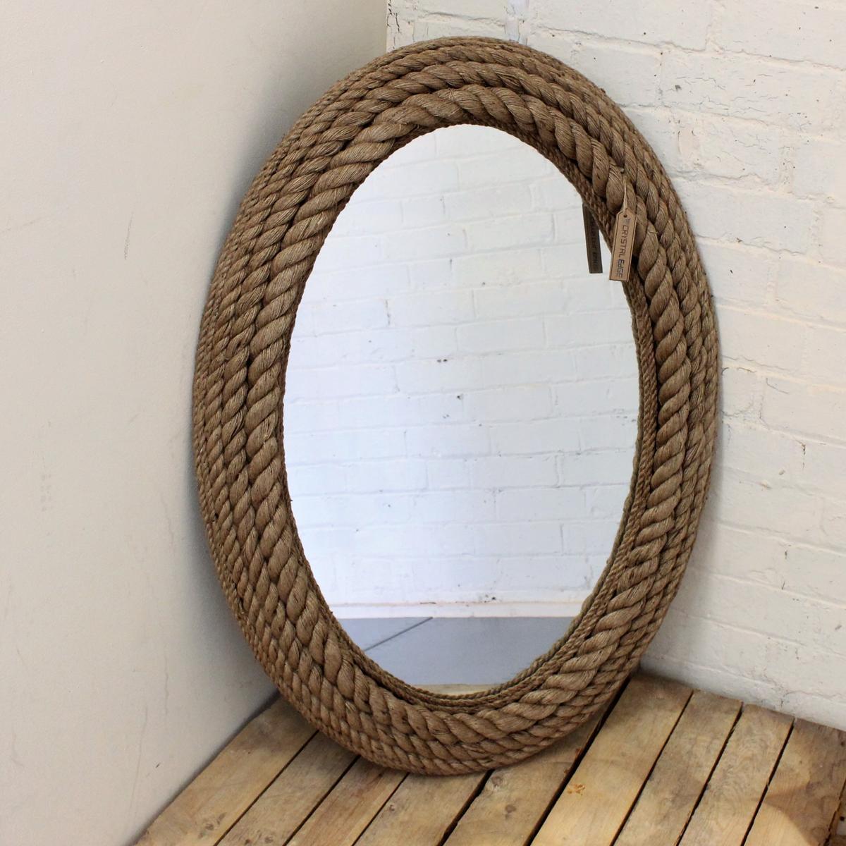 Corda ovale specchio da parete mare riva shabby chic - Specchio ovale vintage ...