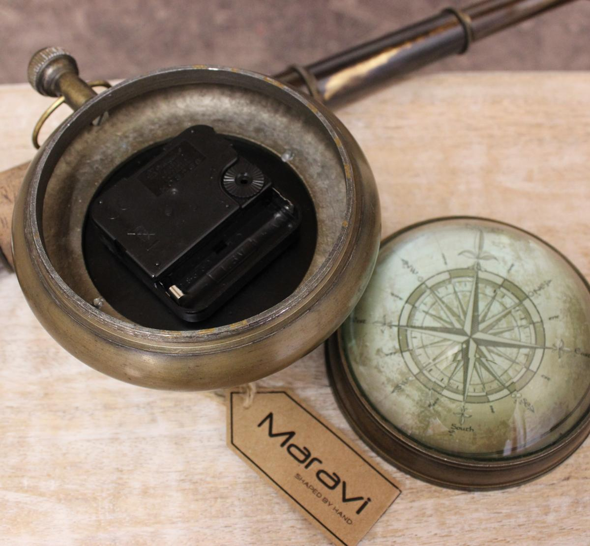 kalanka nautique horloge de bureau boule laiton mantelpiece antique capitaine ebay. Black Bedroom Furniture Sets. Home Design Ideas