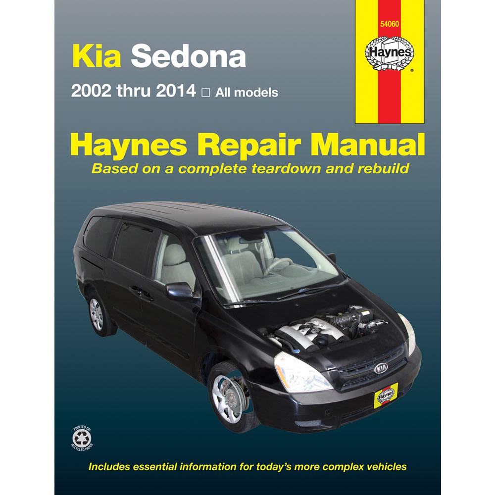 Kia Sedona 2002-2014 Haynes USA Workshop Manual