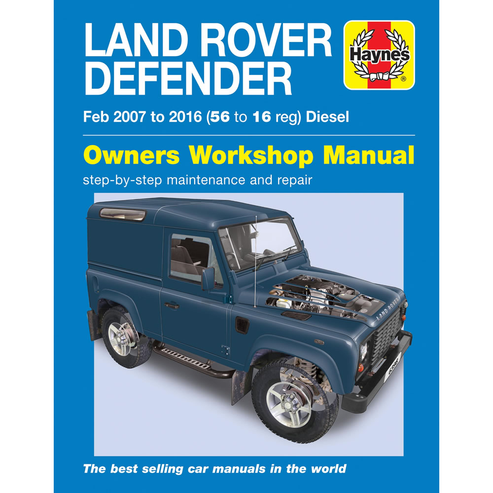 Land Rover Defender Haynes Manual 2007-16 90 110 130 Workshop Manual
