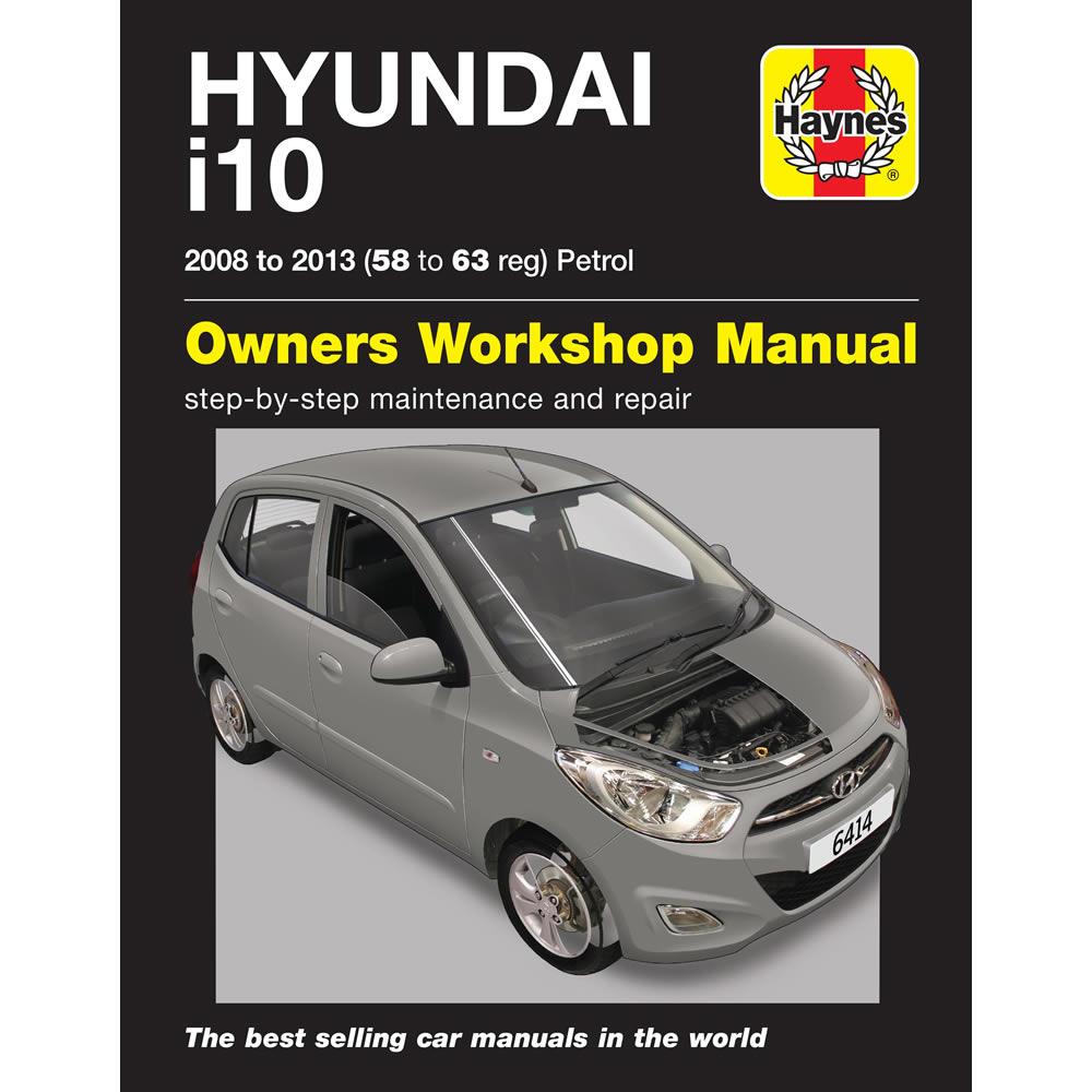 hyundai i10 haynes manual 2008 13 1 2 petrol 58 63 reg workshop rh ebay co uk workshop manual hyundai i10 workshop manual hyundai i10