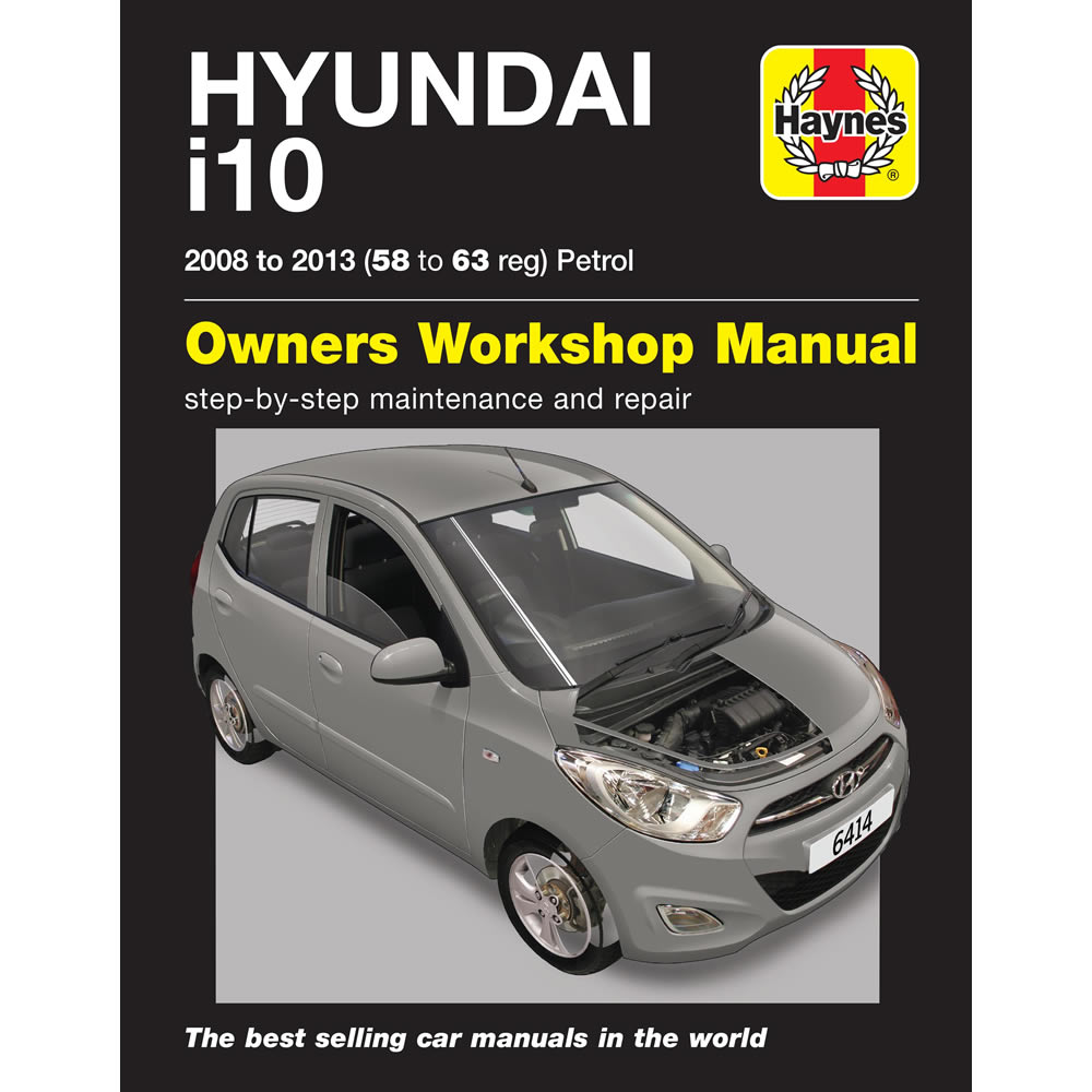 hyundai i10 haynes manual 2008 13 1 2 petrol 58 63 reg workshop rh ebay co uk hyundai i10 workshop manual pdf service manual hyundai i10