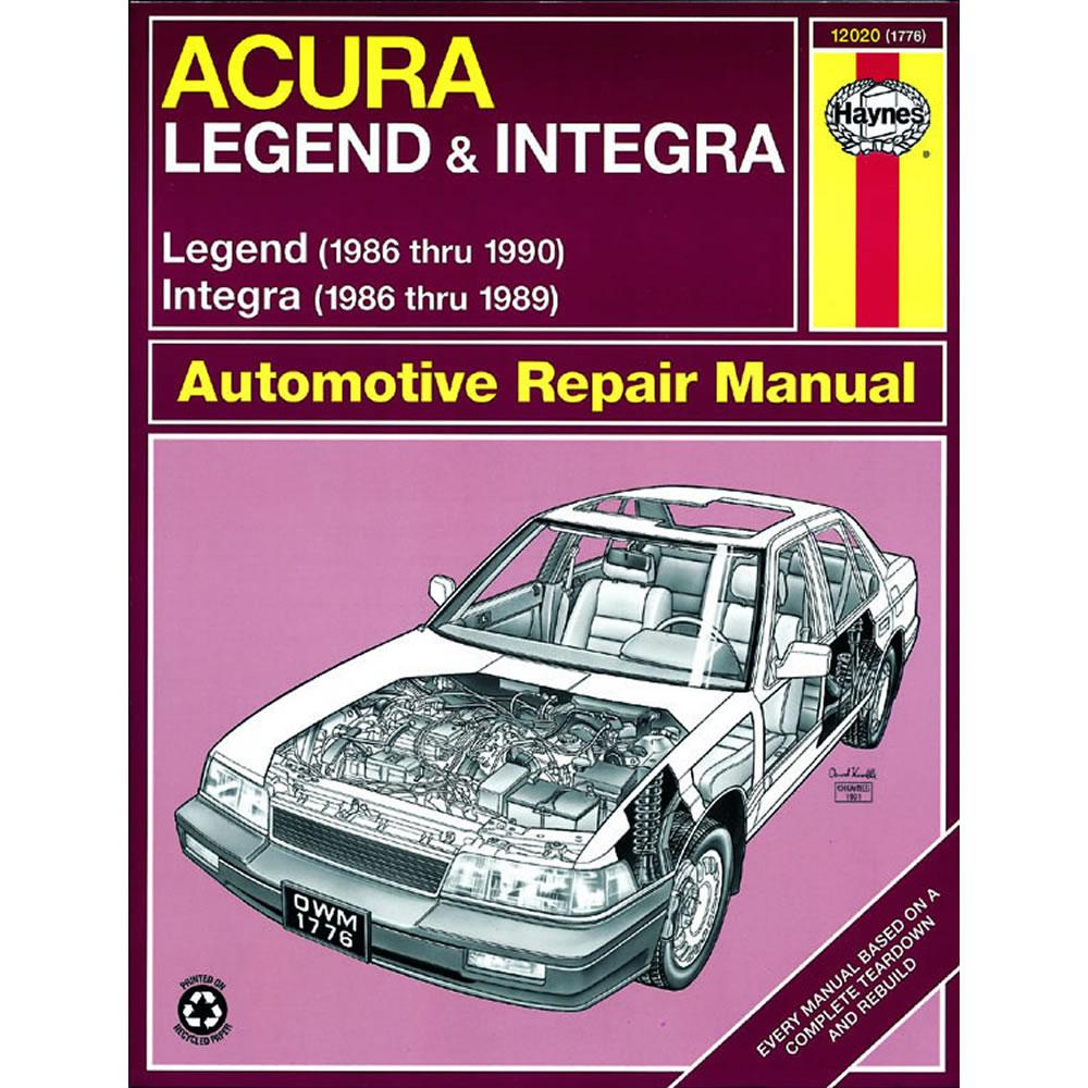 Acura Legend 1986-1990 Haynes USA Workshop Repair Manual