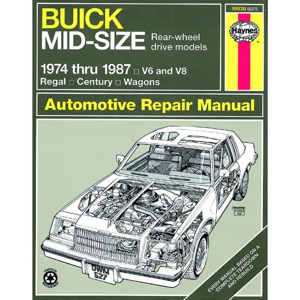 Buick Regal 1974-1987 Haynes USA Workshop Manual