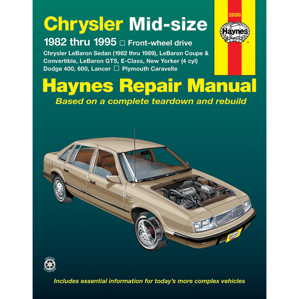 Chrysler New Yorker FWD 1983-1988 Haynes USA Workshop Manual