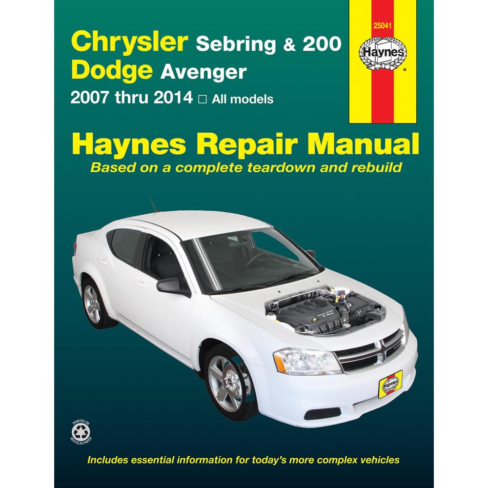 dodge avenger all models 2008 2014 haynes usa workshop manual ebay rh ebay  co uk 2016 Dodge Journey 2014 Dodge Journey