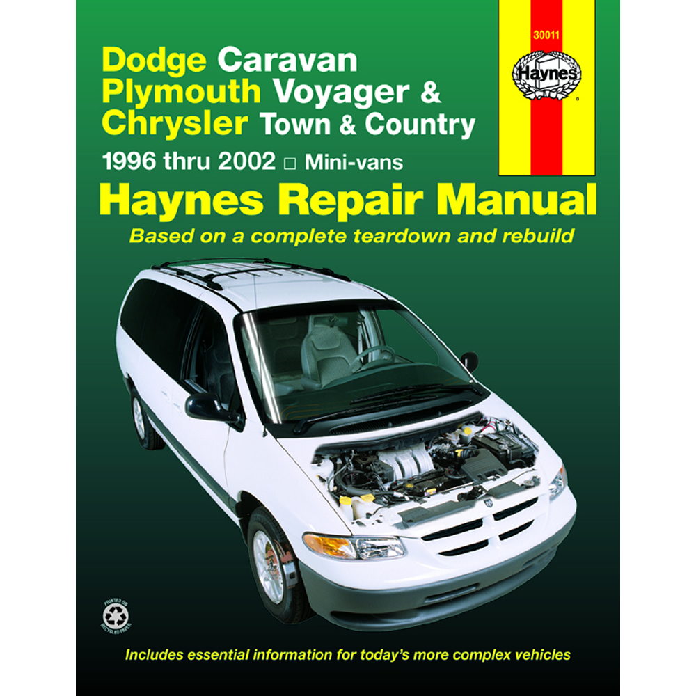 Plymouth Voyager and Grand Voyager 1996-2000 Haynes USA Workshop Manual