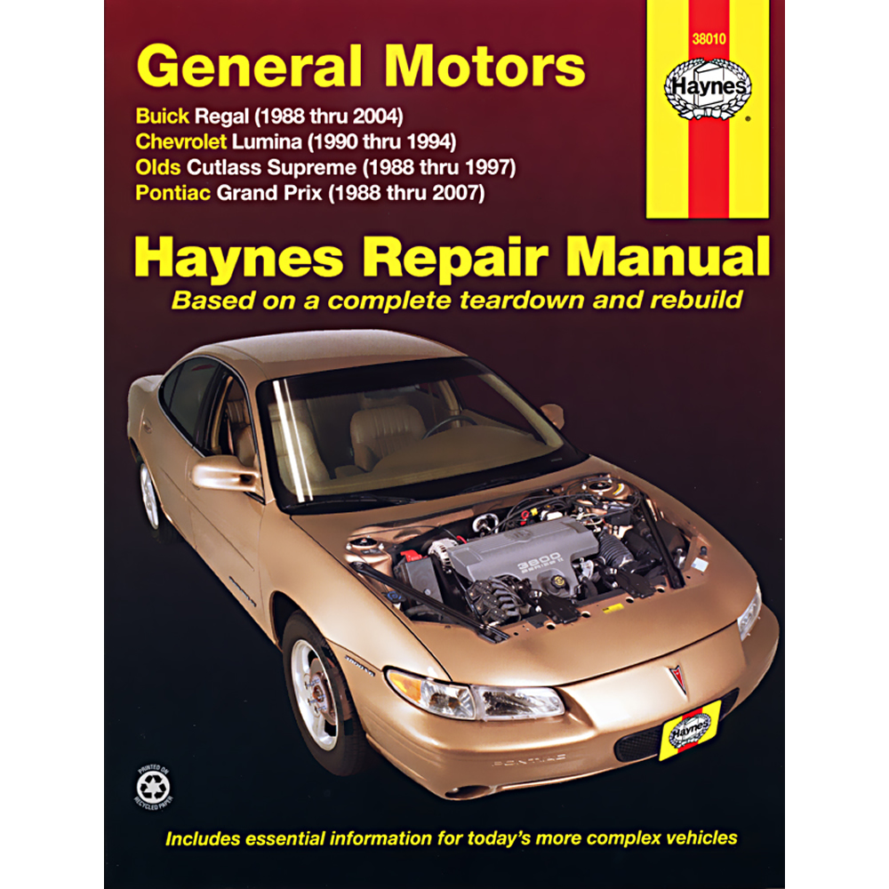 Pontiac Grand Prix 1988-2007 Haynes USA Workshop Manual
