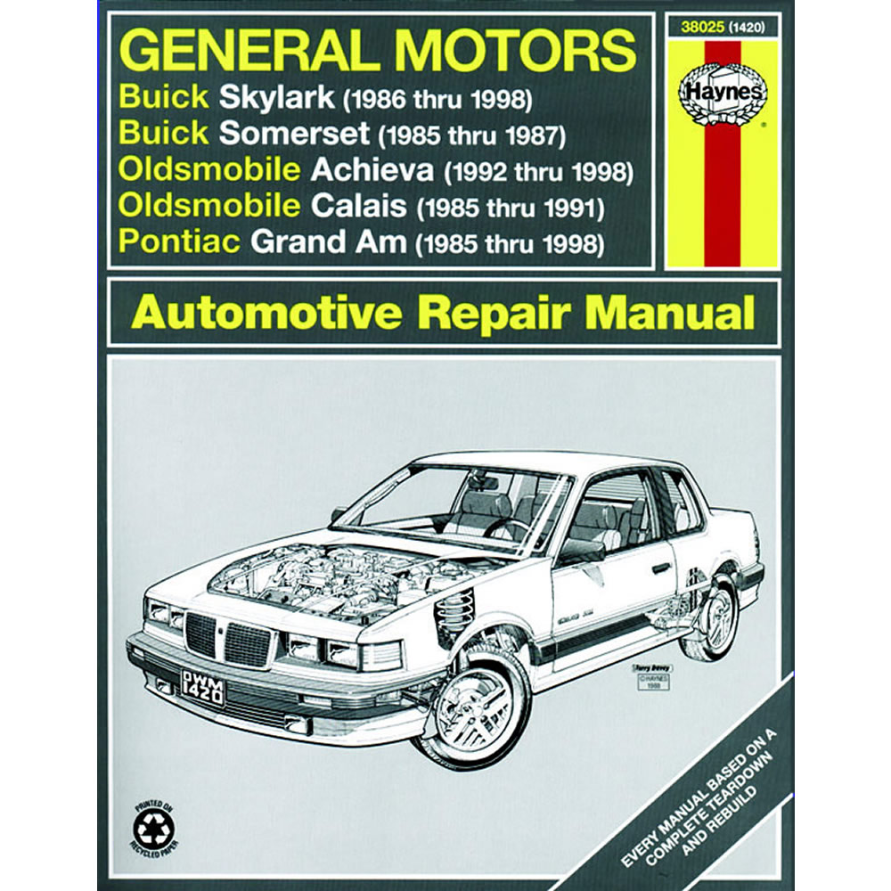 Pontiac Grand Am 1985-1998 Haynes USA Workshop Manual