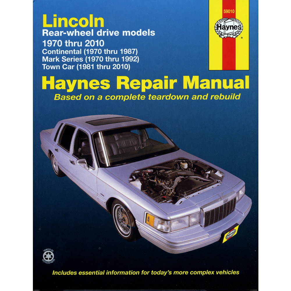 Lincoln Continental 1970-1997 Haynes USA Workshop Manual
