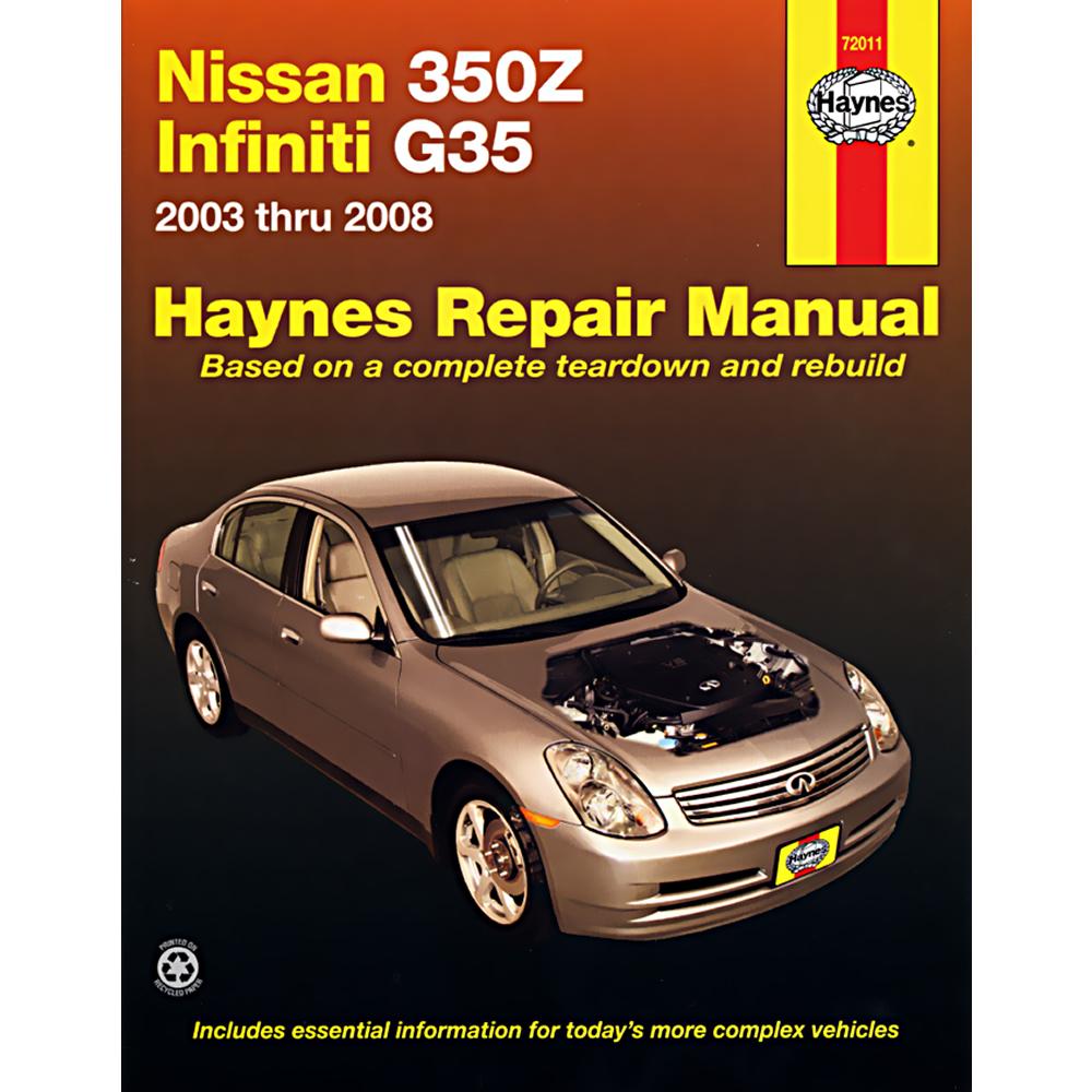 nissan 350z 2003 2006 workshop service repair manual