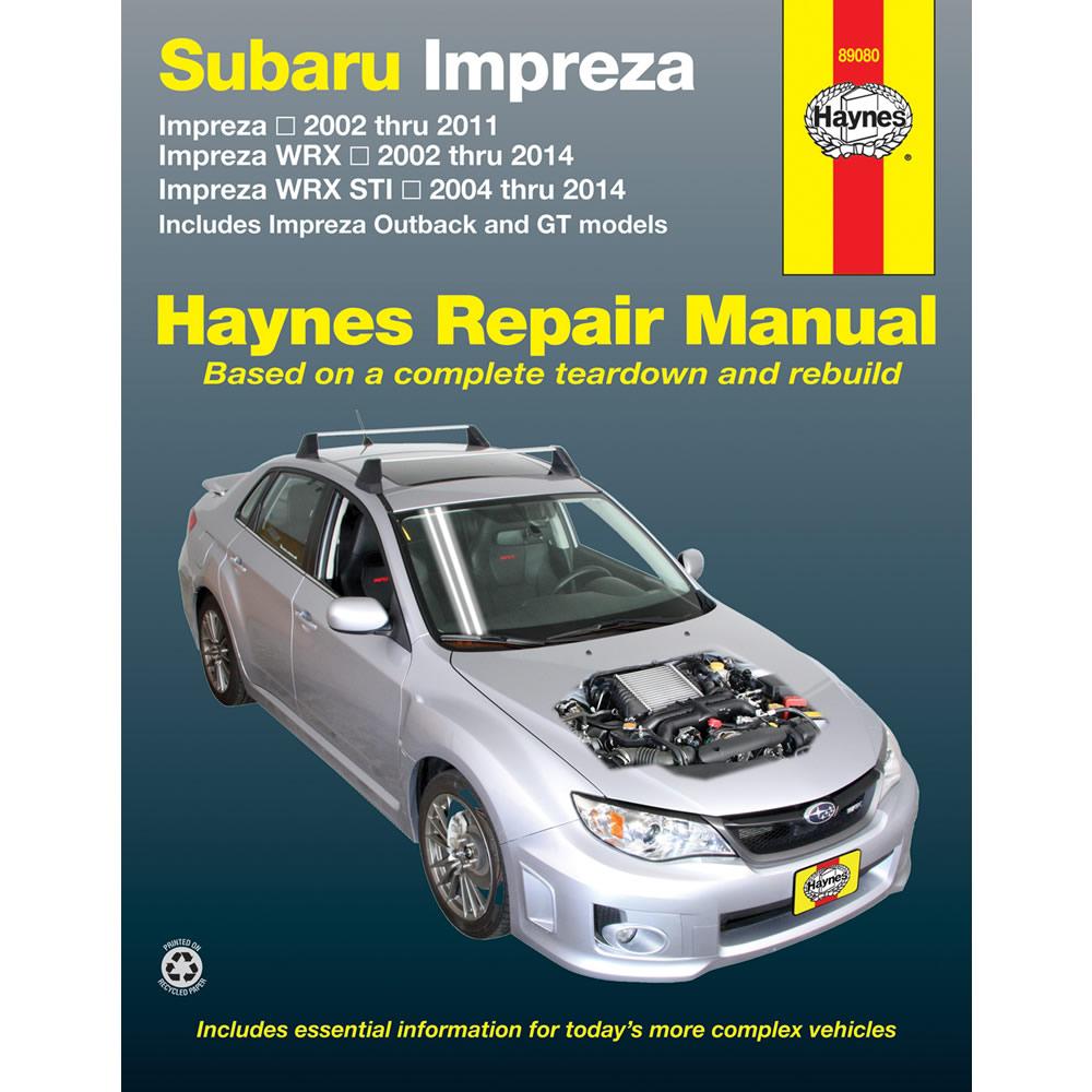 Subaru Impreza WRX STI 2004-2014 Haynes USA Workshop Manual