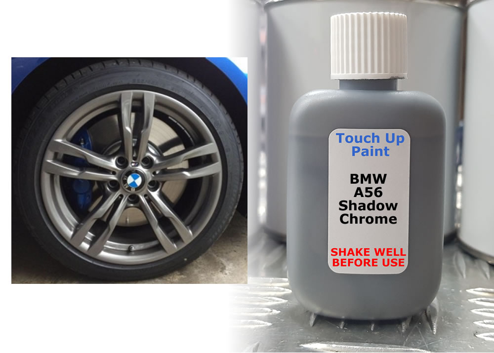 Details about BMW Alloy Wheel Touch Up Paint A56 SHADOW CHROME 30ml Kurb  Scratch M-Sport