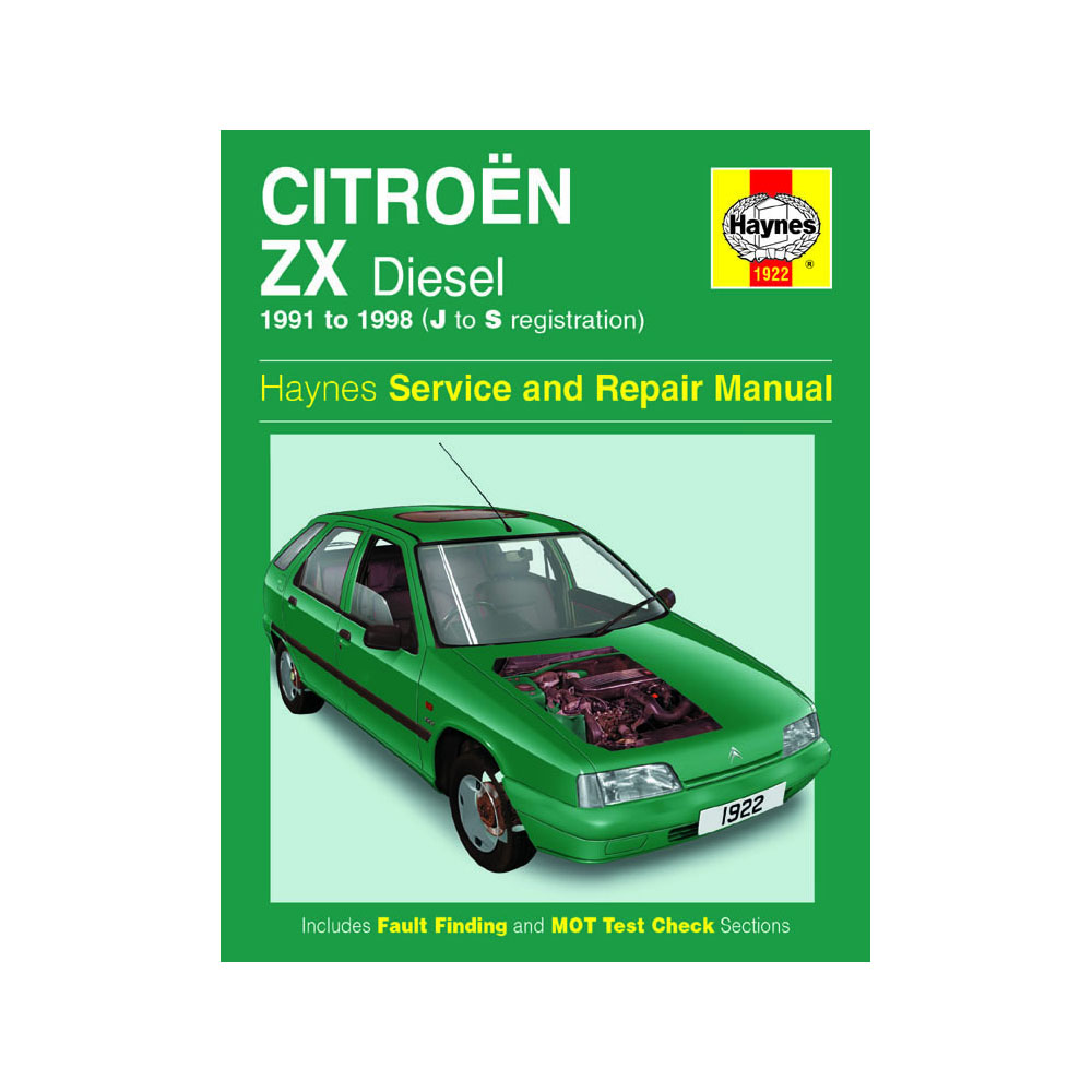 [1922] Citroen ZX 1.8 1.9 Diesel 91-98 (J to S Reg) Haynes Workshop Manual