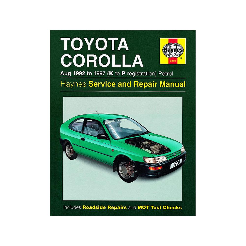 3259 toyota corolla 1 3 1 6 1 8 petrol 1992 97 k to p reg haynes rh ebay co uk 2016 Toyota Avensis Toyota Avensis 2013