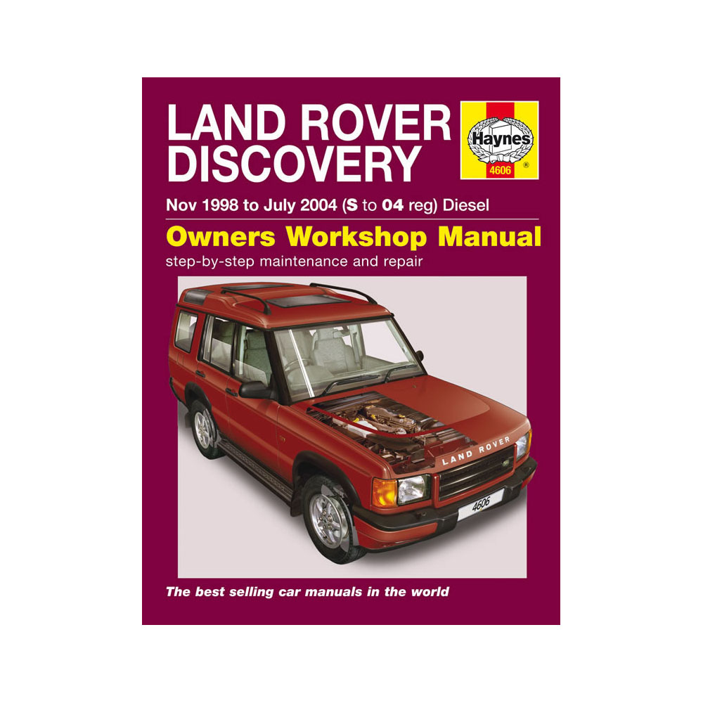 [4606] Land Rover Discovery 2.5 Diesel 1998-04 (S to 04 Reg) Haynes Manual