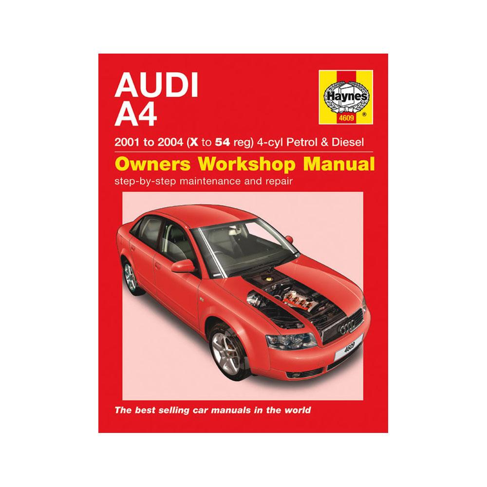 haynes manual audi a4 1 8t 2 0 petrol 1 9 turbo diesel 01 04 x to rh ebay co uk audi a4 repair manual b8 audi a4 repair manual