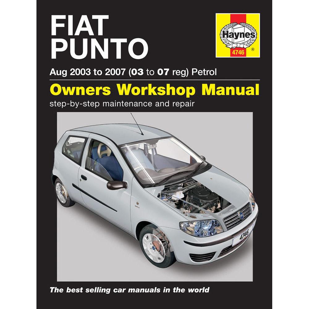 [4746] Fiat Punto Hatchback 1.2 Petrol 03-07 (03-07 Reg) Haynes Workshop  Manual