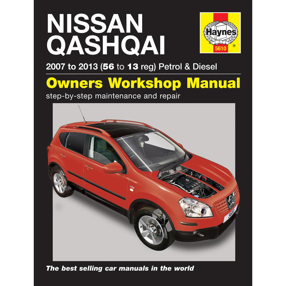 5610 nissan qashqai 2007 13 haynes manual 1 6 2 0 petrol. Black Bedroom Furniture Sets. Home Design Ideas