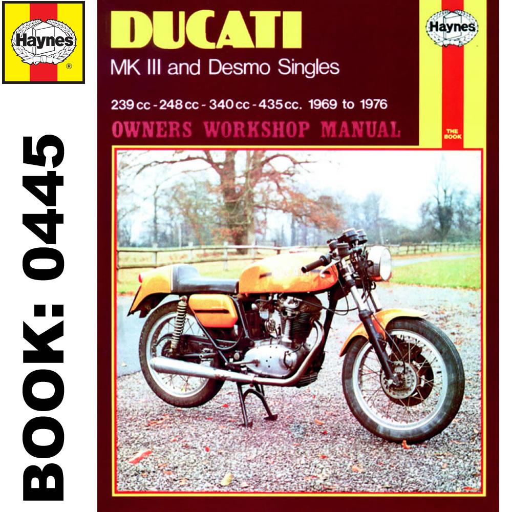 Ducati MK3 Desmo 239 250 350 450 Singles 1969-76 Haynes Workshop Manual