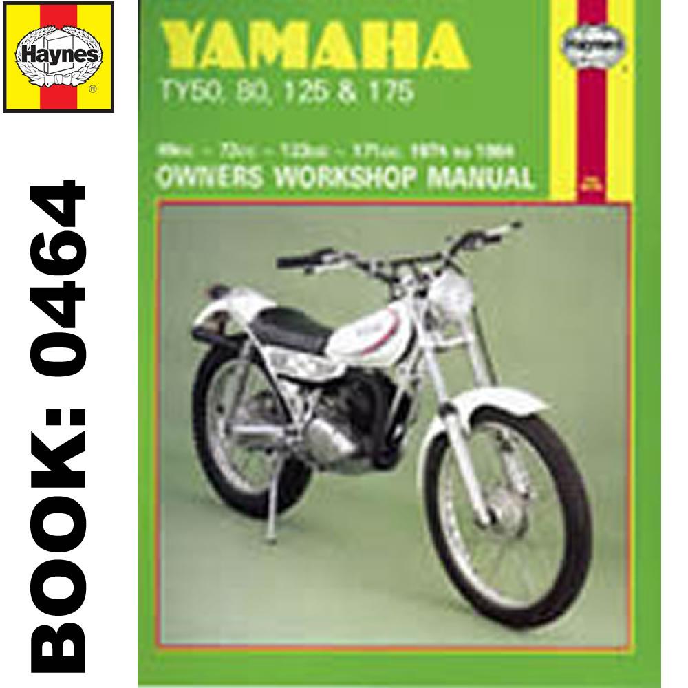 yamaha ty50 ty80 ty125 ty175 1974 1984 haynes workshop manual ebay rh ebay com au Yamaha TY 350 Trials Bike Yamaha 1986 RM125