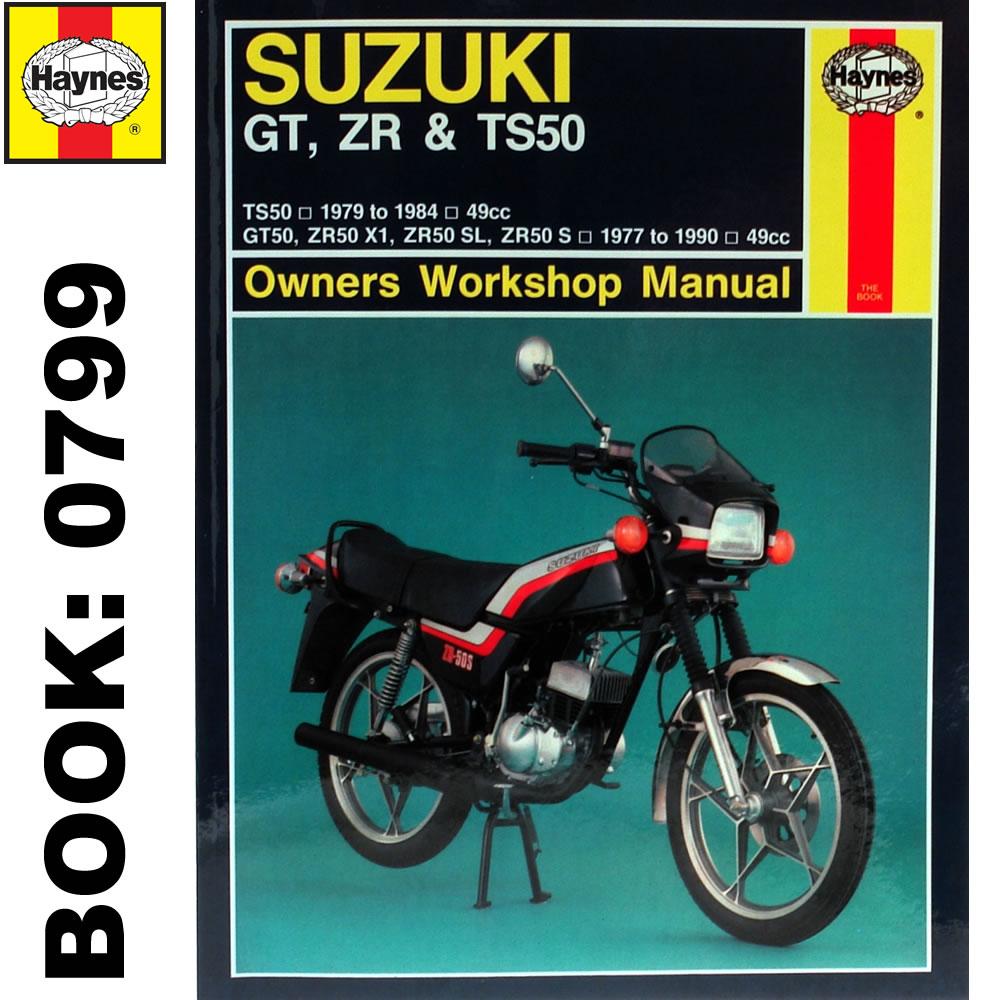 suzuki gt50 ts50 zr50 1977 90 haynes workshop manual ebay rh ebay com 1989 Suzuki GS500E 1989 Suzuki GS500E