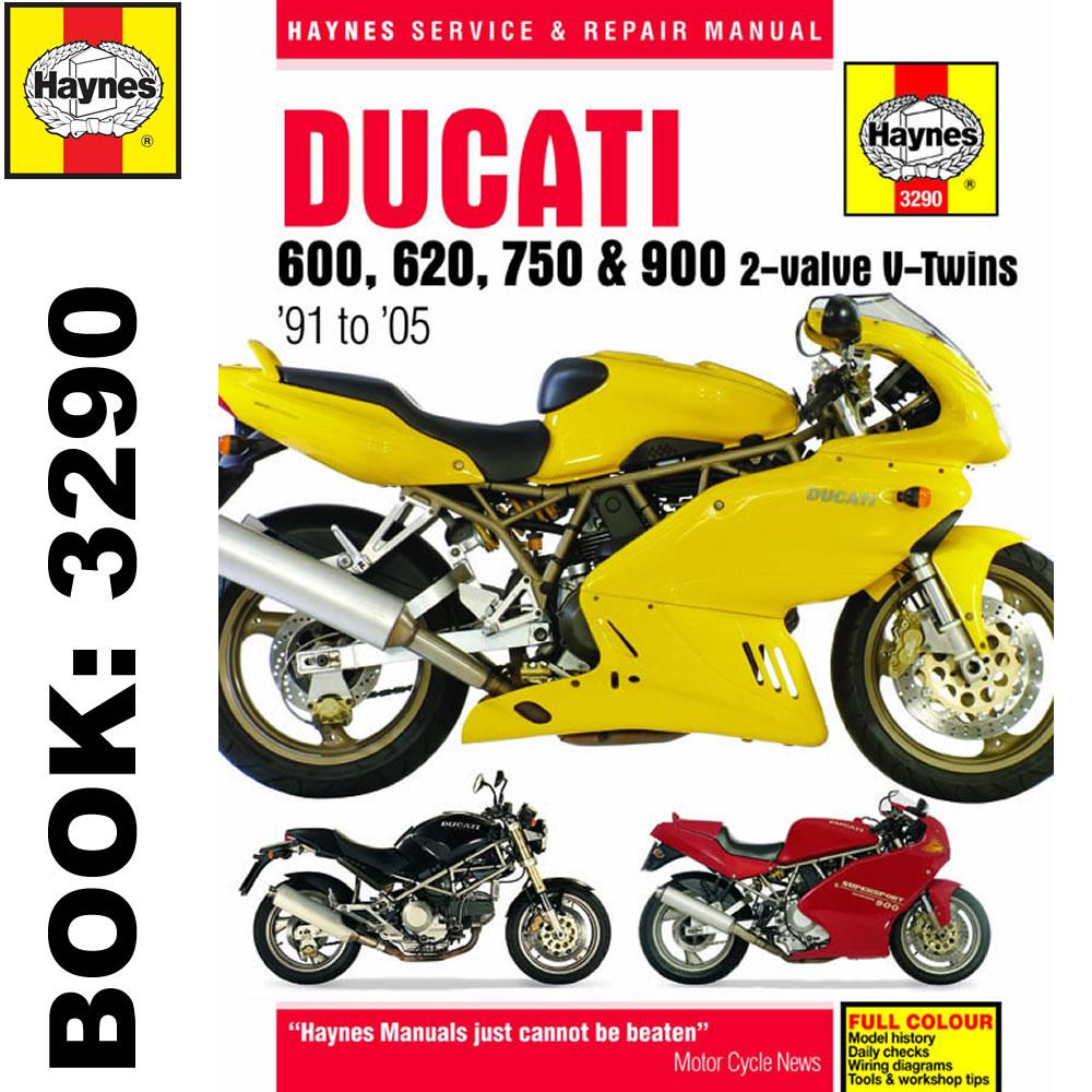 Ducati 600 620 750 900 2-Valve Twins 1991-2005 Haynes Workshop Manual