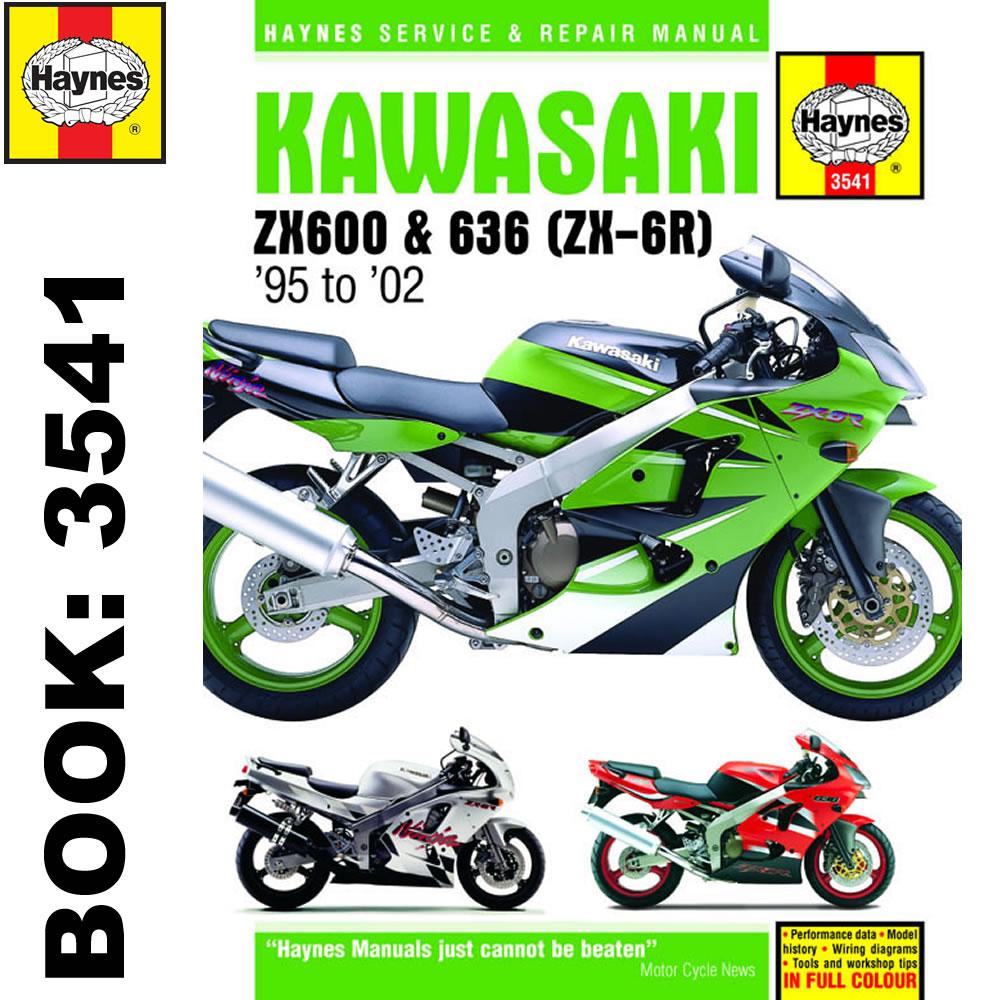 Kawasaki ZX6R Ninja Fours 1995-2005 Haynes Workshop Manual