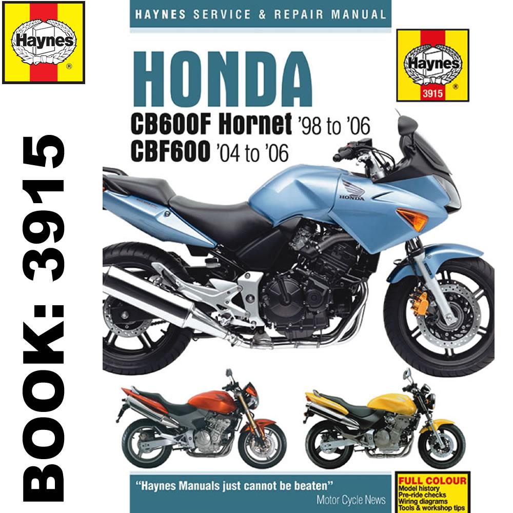 Honda CB600F Hornet CBF600 1998-2006 Haynes Workshop Manual