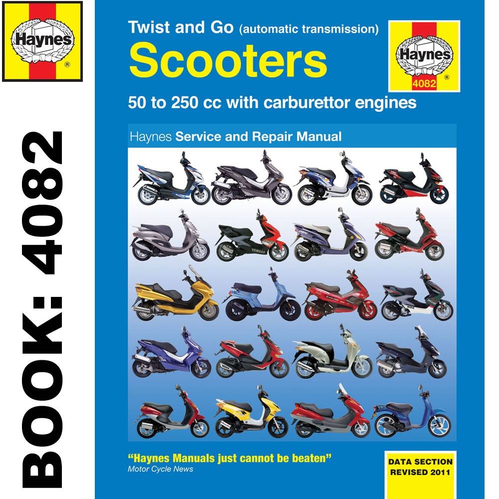 Twist and Go (Auto Transmission) Scooters 50-250cc Haynes Workshop Manual