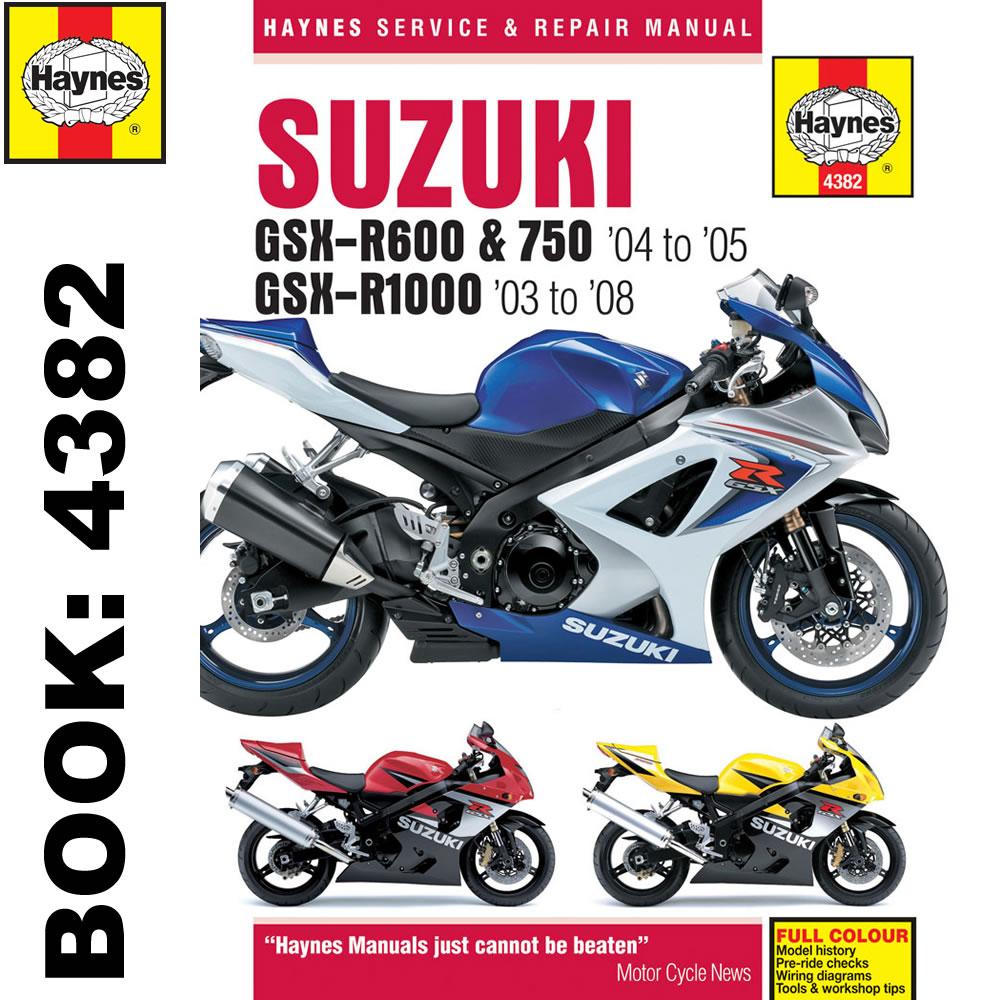2005 Suzuki Gsx R750 Manual Wiring Diagram Electrical Diagrams 03 Z400 R600 2004 05 R1000 2003 08 Haynes Workshop Quadsport