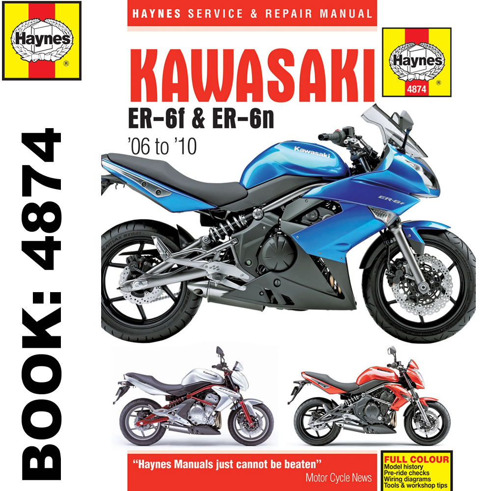 Kawasaki ER6-F ER6-N 2006-10 Haynes Workshop Manual