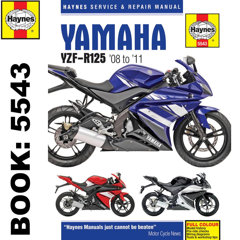 yamaha yzf r125 2008 2011 haynes workshop manual ebay rh ebay co uk Yamaha YZ Yamaha F