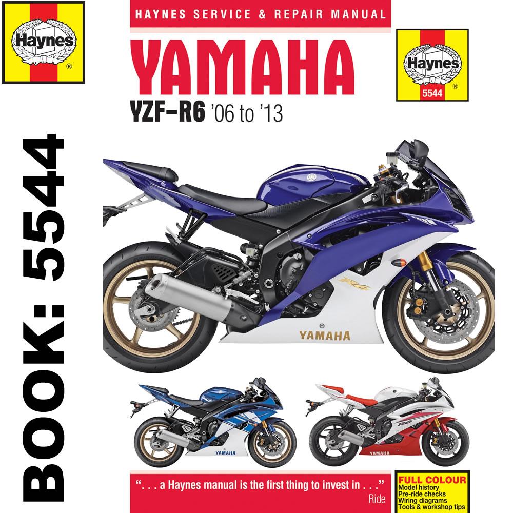 Yamaha YZF-R6 599cc 2006-2013 Haynes Workshop Manual