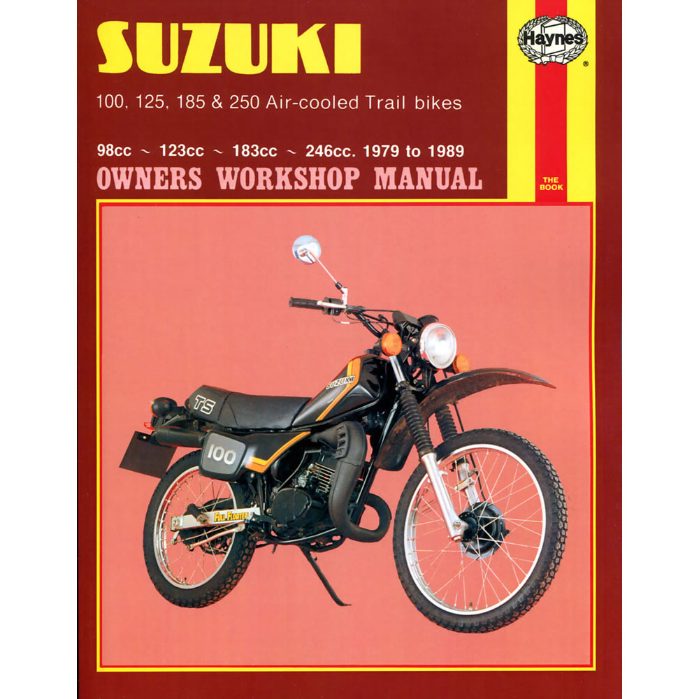 haynes manual suzuki ts100 ts125 ts185 ts250 air cooled trial bikes rh ebay co uk Suzuki DS100 Suzuki DS100