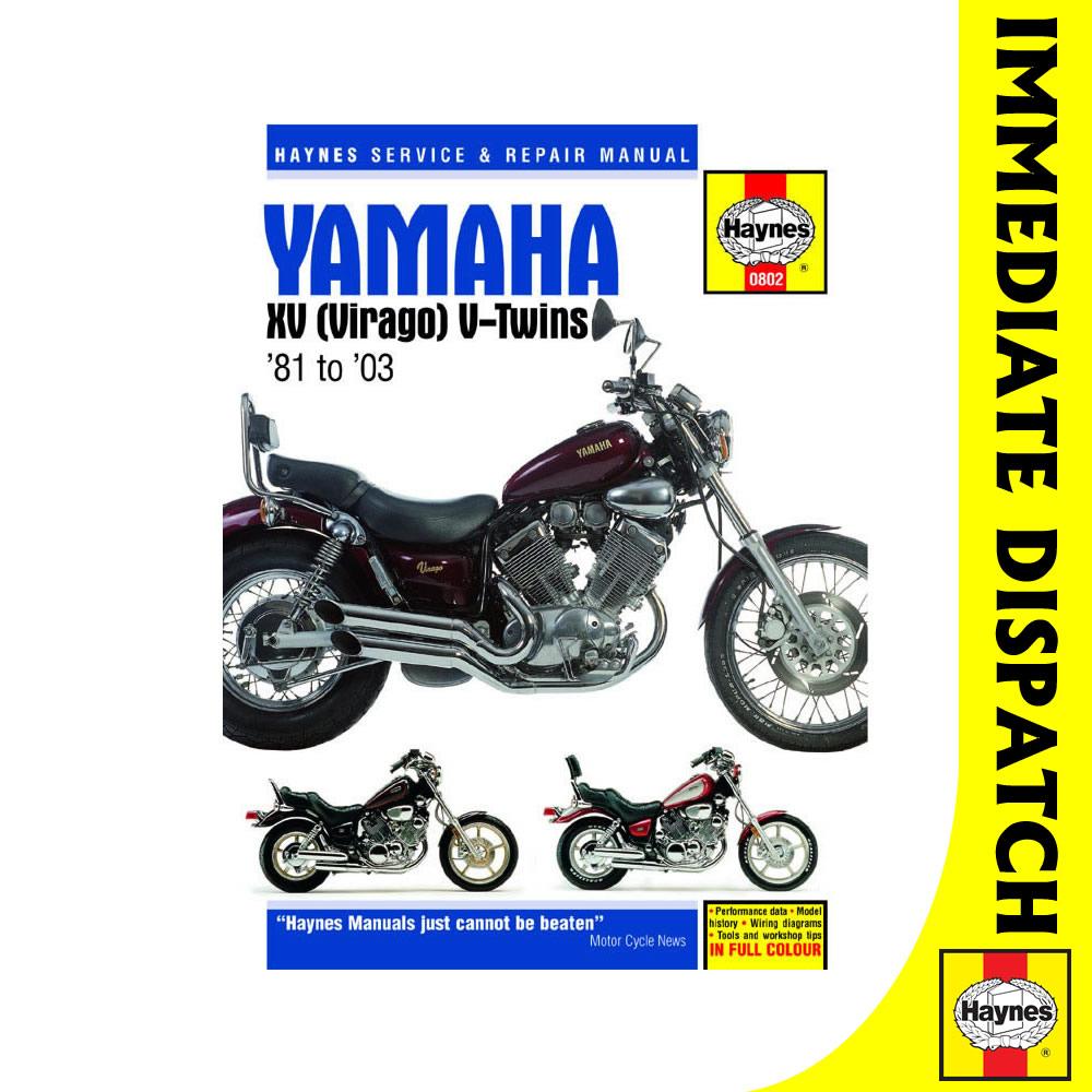 0802 Yamaha Xv535 Xv700 Xv750 Xv920 Xv1000 Xv1100 Virago 1981 2003 Wiring Diagram Haynes Work