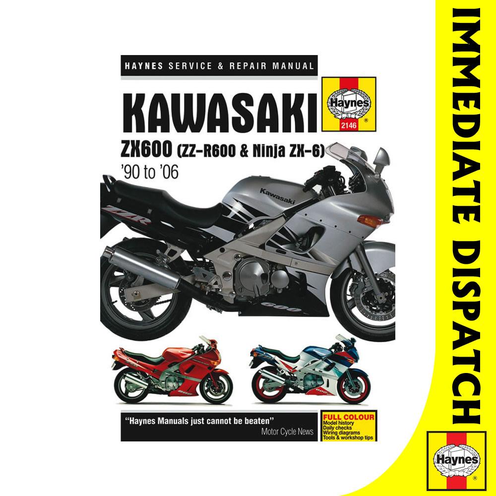 [2146] Kawasaki ZX600 ZZ-R600 Ninja ZX6 1990-2006 Haynes Workshop Manual