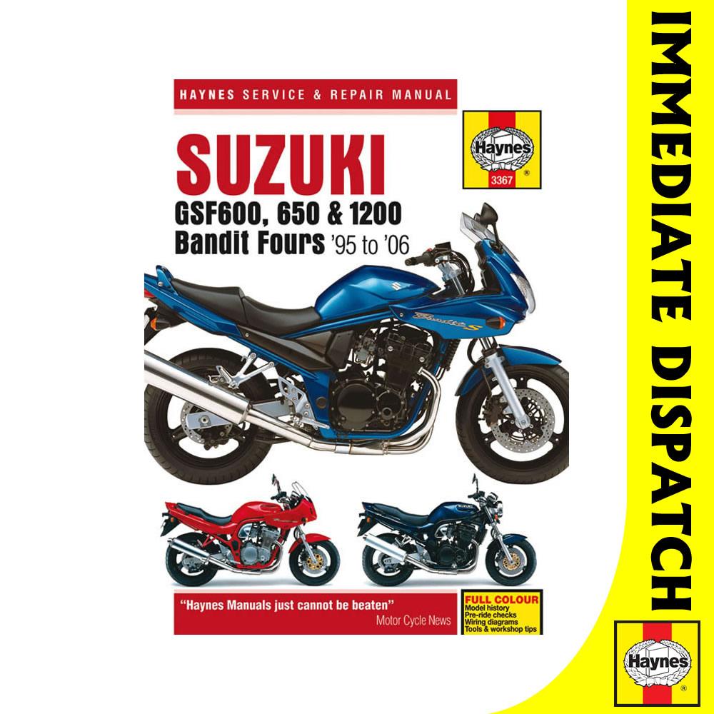 SHOP MANUAL SERVICE REPAIR SUZUKI HAYNES BOOK BANDIT GSF600 GSF650 GSF1200