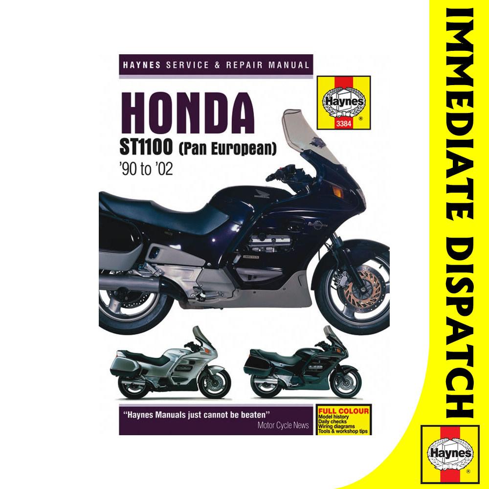 [3384] Honda ST1100 Pan European V-Fours 1990-2002 Haynes Workshop Manual