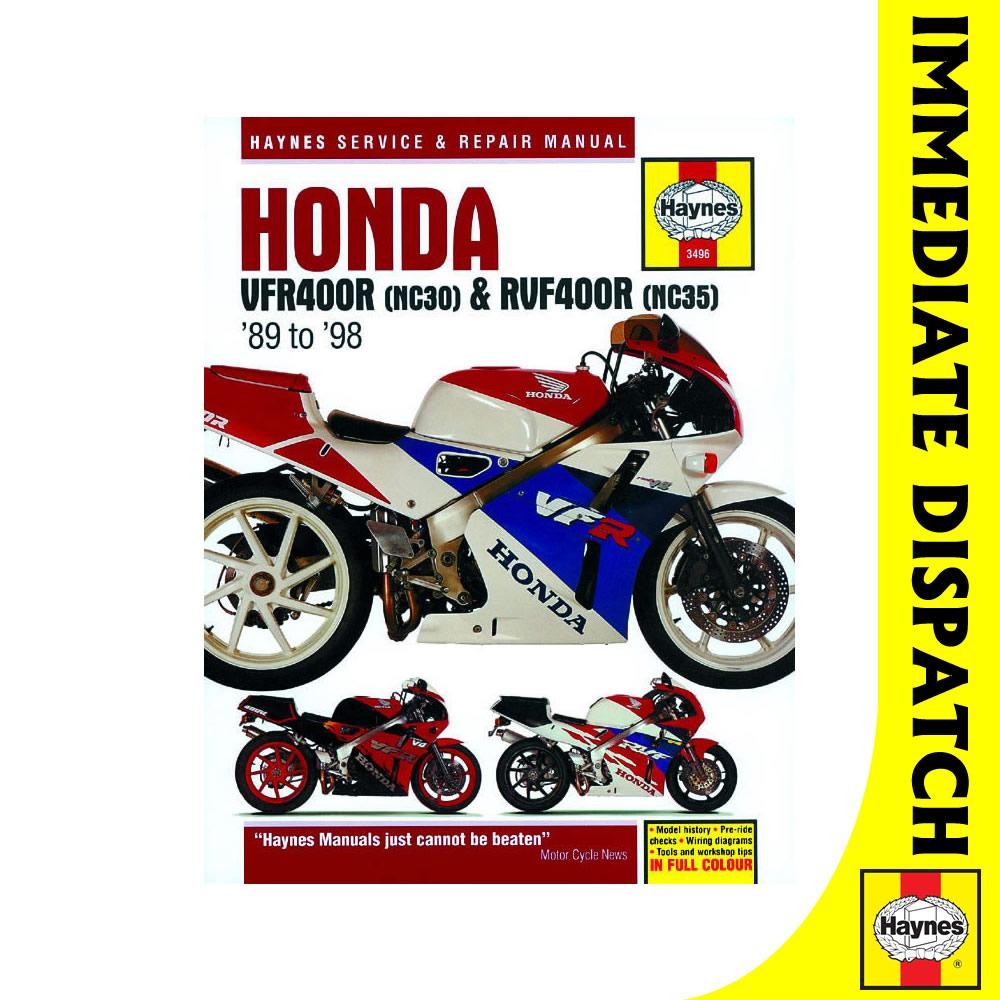 3496 honda vfr400 nc30 rvf400 nc35 v fours 1989 98 haynes workshop rh ebay co uk Honda CB400F Honda NSR500