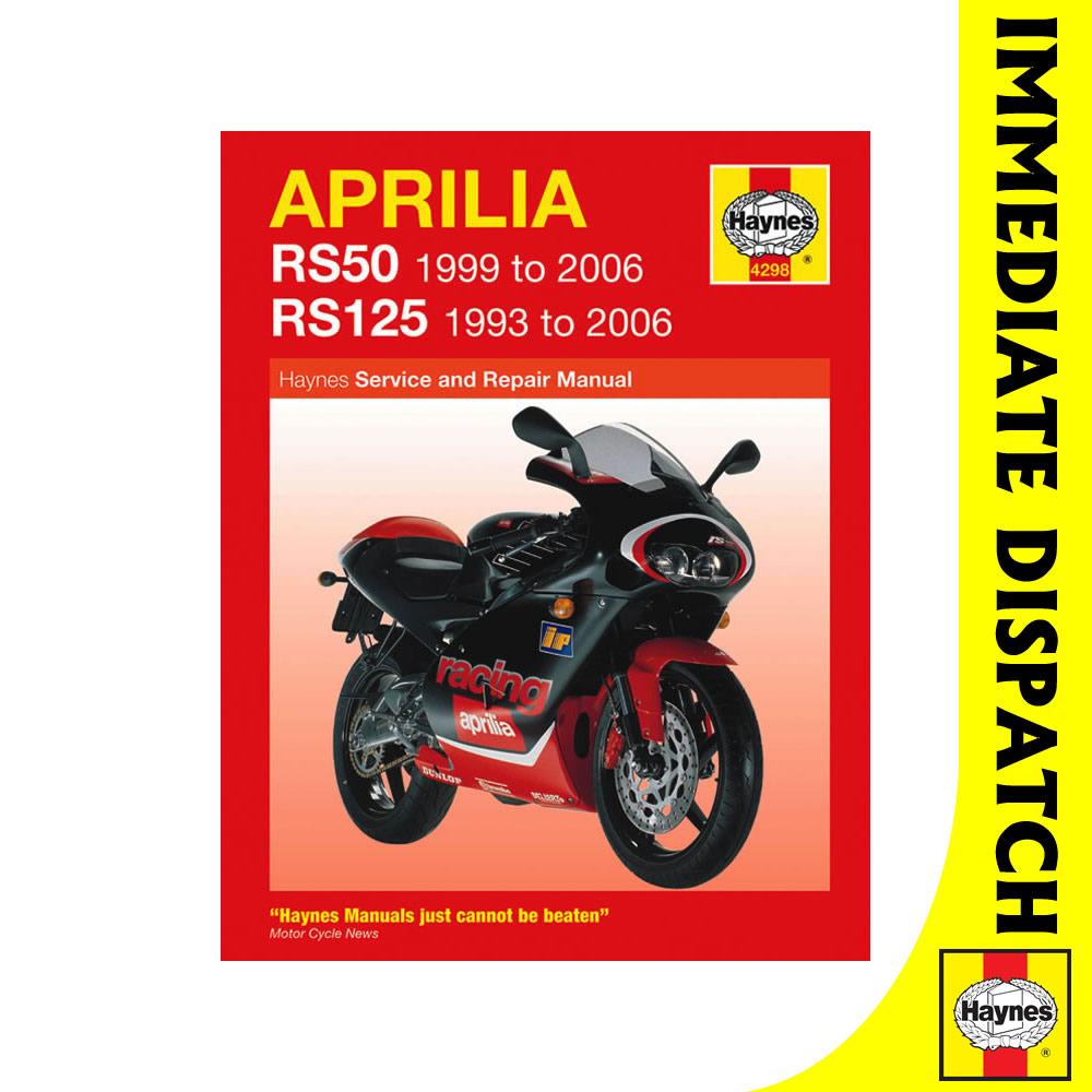 [4298] Aprilia RS50 1999-2006 RS125 1993-2006 Haynes Workshop Manual