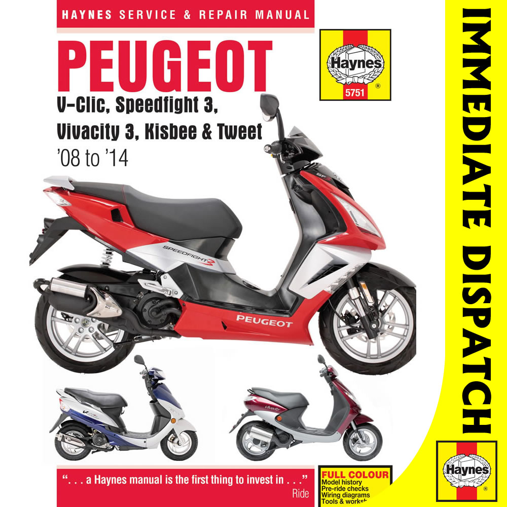 5751 Peugeot V Clic Sdfight 3 Vivacity 2008 14 Haynes Work Manual