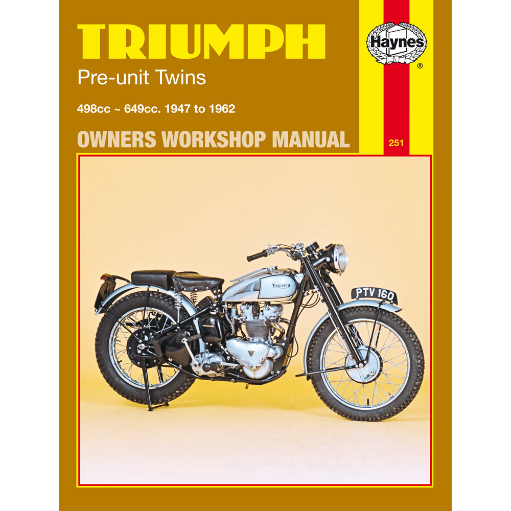 TRIUMPH 650 750 TIGER BONNEVILLE HAYNES WORKSHOP SERVICE REPAIR MANUAL1963-83